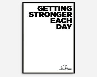 Fitness Motivation, Fitness Motivational Print, Gym Motivational Poster, Motivational Quote, Motivational Wall Decor, Typographic Print.