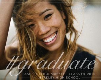 Photo #Graduate Graduation Announcement & Open House Invitation