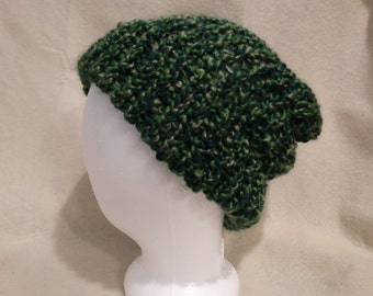 Slouchy Knit Hat - Mossy Forest