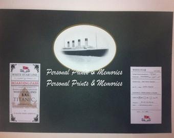 Personalised Titanic Ticket