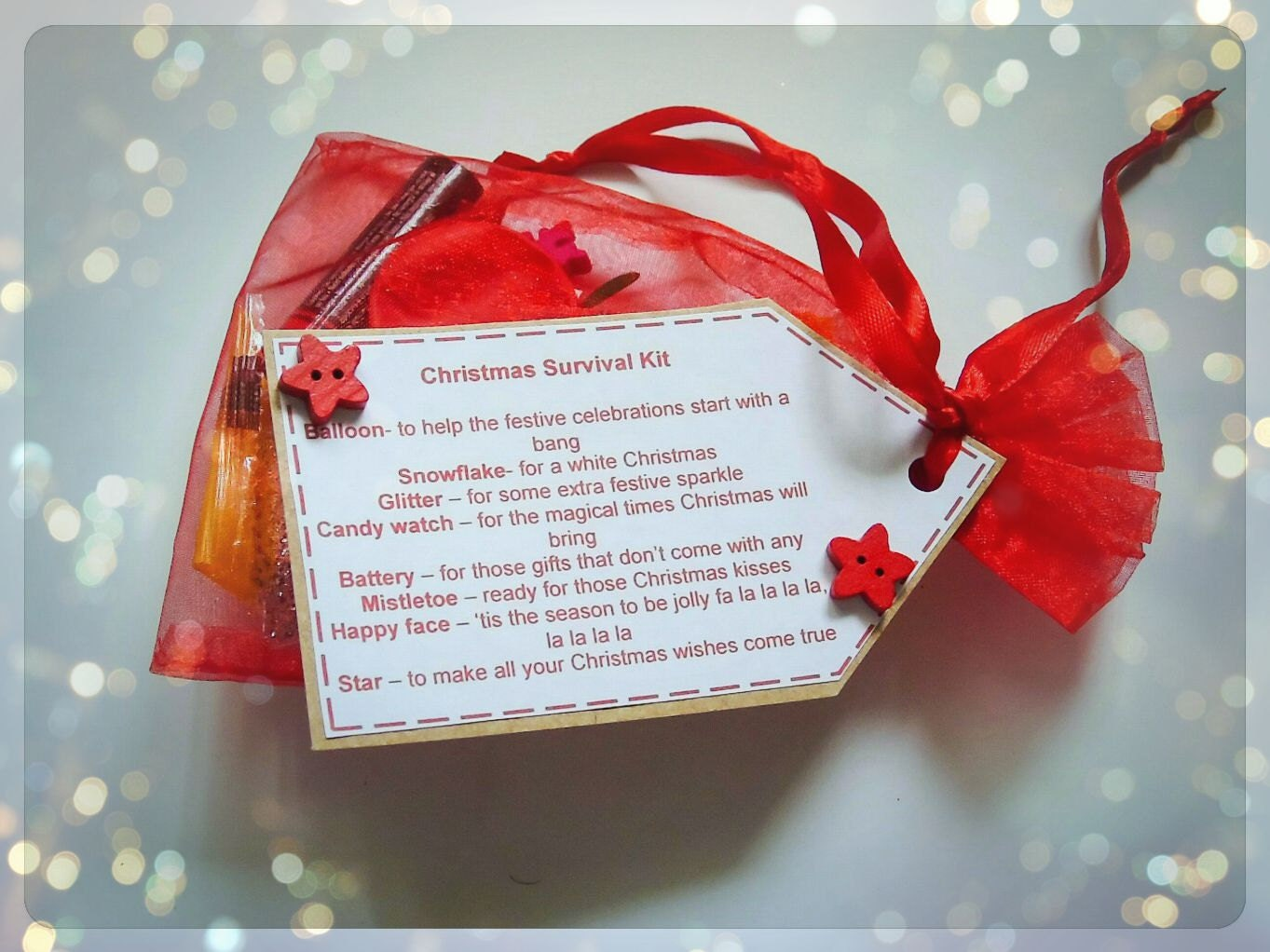 Christmas Survival Kit by KeepsakesandgiftsbyR on Etsy