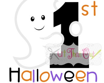 EXCLUSIVE My First Halloween Ghost SVG DXF Design Cut File