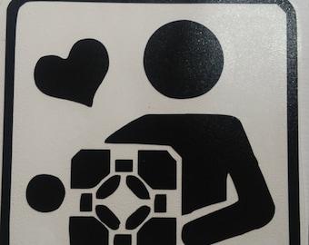 Companion cube love