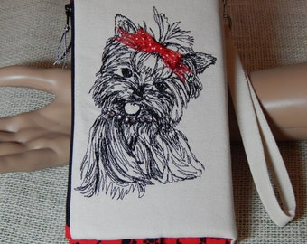 CLOSEOUT SALE!!!!  Yorkie Lovers/Wristlet Wallet/Clutch/Handmade/Gifts for Her