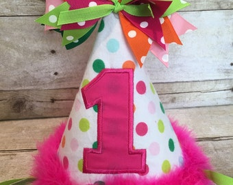 Customize Birthday Hat, Personalized Birthday Hat, 1st Birthday Hat, First Birthday Hat