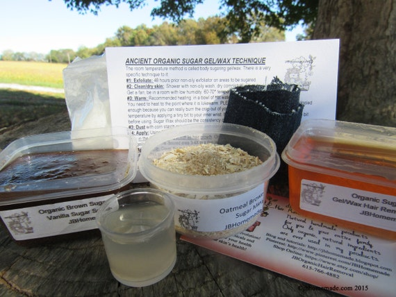 Natural Vanilla Brown Sugar Scrub Sugaring Wax Deluxe Starter Kit
