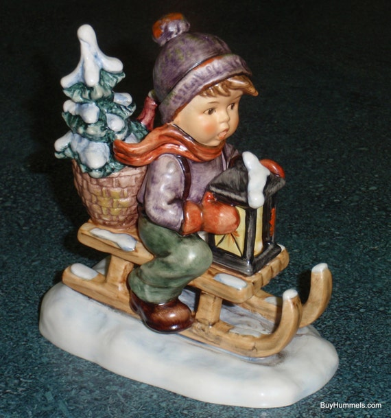 Large ride into christmas goebel hummel figurine