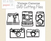 SVG Cutting Files: Vintage Camera Silhouettes, Camera SVG