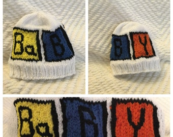 Baby Knitted Beanie, Science Themed, Chemical Elements, Periodic Table