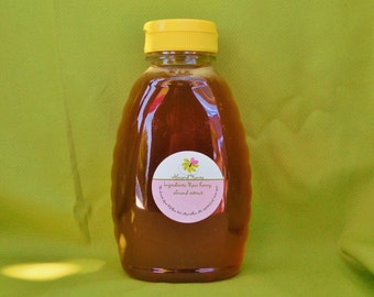 Almond Honey 1 lb plastic bottle