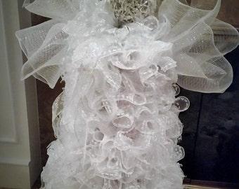 Joy Christmas Angel-Christmas Mesh Angel-Deco Mesh Standing Angel-Christmas Decor