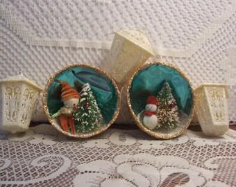 Vintage Diorama Christmas Ornaments and Lantern Ornaments