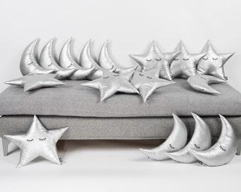 Moon Cushion, Moon Pillow, Sleepy Moon Cushion, Moon Pillow, Nursery Pillow, Kids Pillow, Nursery Decor, Modern Nursery, Baby Gift, Baby