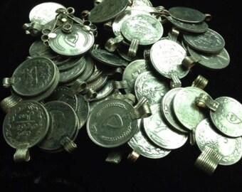 Afghan Kuchi Old vintage coins big coins with loops