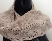 Silky Wool Garter and Lace Knit Lace Scarf