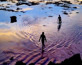 Sunset in Sumba . Indonesia . Island . Sea .  Fine Art Photography Travel