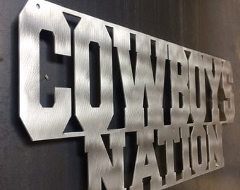 COWBOYS NATION!!  All for Dallas, Texas Baby!! custom steel artwork and industrial decor