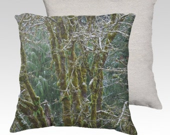 """Trees and Moss Photographic Pillow (18"""" x 18"""" and 22"""" x 22"""")"""