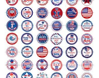 4th of July Pre Cut Bottle Cap Images (54)