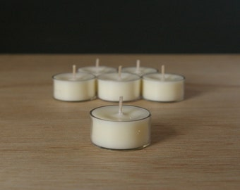 6pk Unscented Soy Tealights