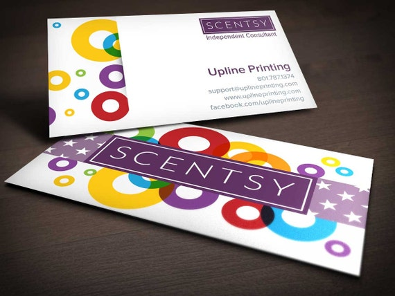 Scentsy Circle Business Card by UplinePrinting on Etsy