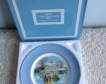 Avon Christmas Plate 1977