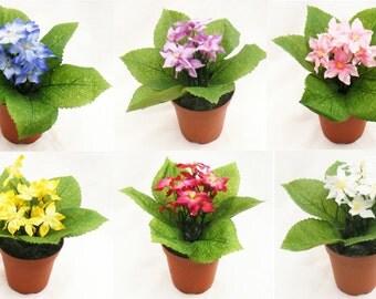 Chonodoxa Pot Plant Faux Silk