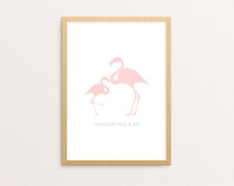 Flamingo Nursery Print | Nursery Wall Art | Contact for Personalised Prints
