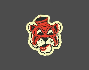 Auburn Tigers Vintage Full Color - Die Cut Decal/Sticker
