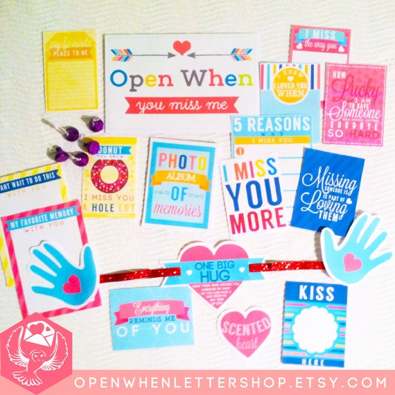 10 PRE-MADE Open When Envelopes PREMADE Open When Letters