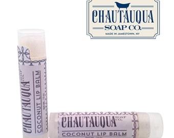 Organic Coconut Lip Balm - Made in USA - All Natural - Chautauqua Soap Co