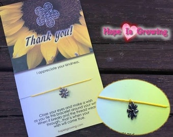 Thank You! Friendship Wish Bracelet and Greeting Card