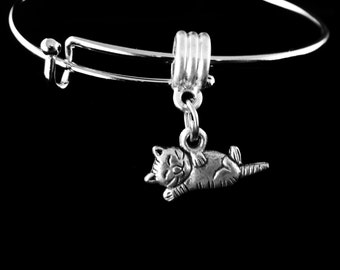 Hang in there Cat Charm Bracelet Happy cat bracelet Happy Cat Jewerly Laughing cat Jewelry Kitten jewelry Kitten bracelet Cat bracelet