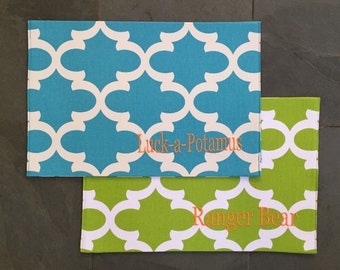 Blue Dog Placemat || Personalized Puppy Bowl Mat || Custom Puppy Dog Gift || Feeding Station by Three Spoiled Dogs