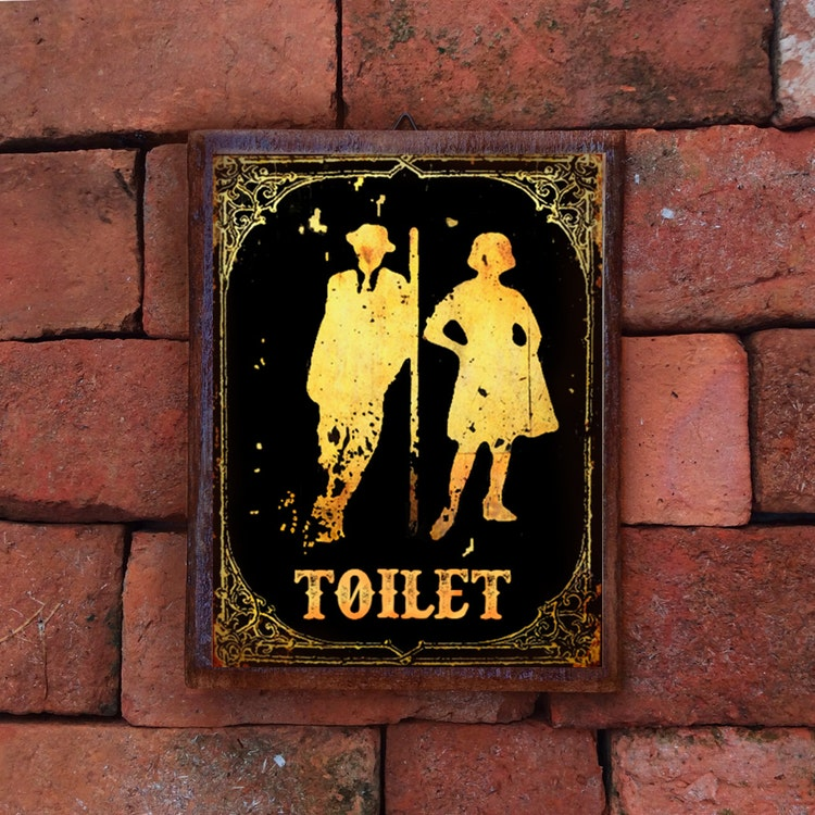 Ratings Feedback For Gavan Wood Painting Decorating: Restroom Sign Wood Sign Door Sign Funny Sign Decor By