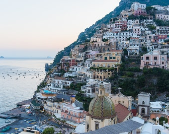 Italy Beach Photograph, Positano Print, Positano Wall Art, Amalfi Coast Photo, Italy Large Wall Art, Positano Houses