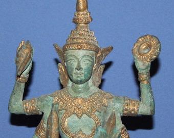 Vintage Hand Made Bronze Hindu Deity Figurine Vinshu