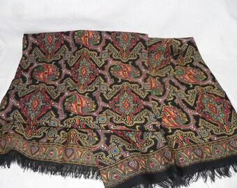 1960s printed wool scarf