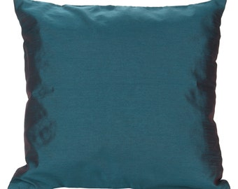 Teal throw pillowEtsy