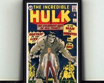 11x17 Incredible Hulk #1 Comic Book Cover Poster Print