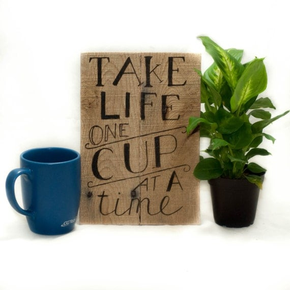 Rustic kitchen decor Wood kitchen signs Coffee by ...