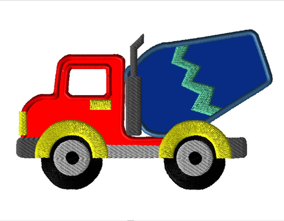 Truck applique embroidery design sizes instant download