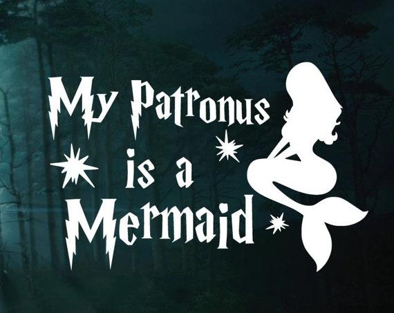 My Patronus Is Mermaid Harry Potter Car Decal Window