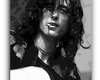 Jimmy Page Led Zeppelin Canvas Art Print A1 A2 A3 A4