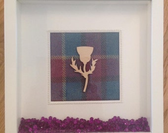 Scottish Thistle Tartan Frame