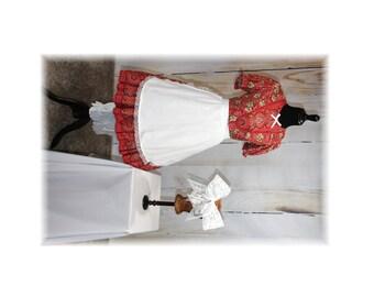 Doll Costume / Raggedy Ann / Sweet Lolita / Prairie Costume / Adult Little Girl Costume--Small-Medium (I13)