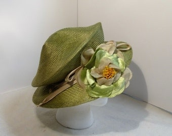 Woman's Dressy Packable  Straw Hat  Green