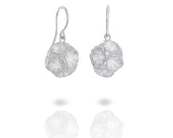 Silver ball earrings
