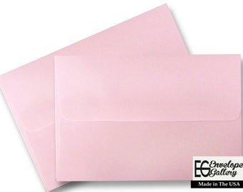 25 Pastel Baby Pink Envelopes for Invitations Announcement Shower Communion Wedding Birth Confirmation Enclosure Response A1 A2 A6 A7