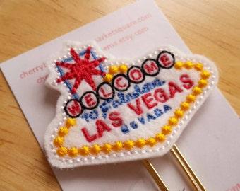 Las Vegas Sign Paper Clip